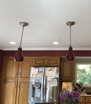 Glass Pendant Light Set for Sale in Orange, CA