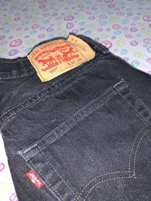 Levi Black Denim Jeans for Sale in Las Vegas, NV