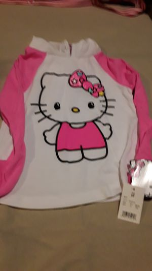 Hello kitty blouse with hoodie 5t for Sale in Baltimore, MD