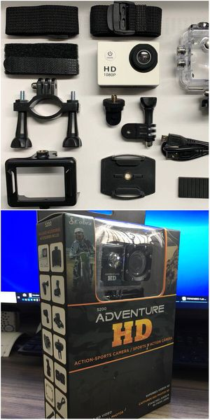 New in box Cobra Adventure HD sports generic gopro style camera cam 1080p water proof with lcd screen and accessories for Sale in Los Angeles, CA