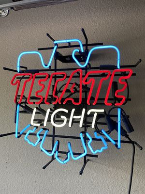 Tecate light neon for Sale in San Antonio, TX