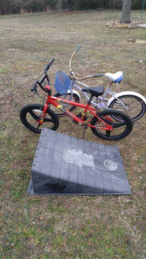 Girl & Boy bikes & ramp for Sale in Danville, VA