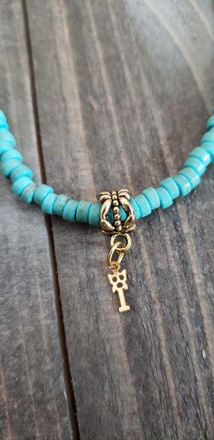 Handmade dainty key charm choker necklace for Sale in Milwaukee, WI