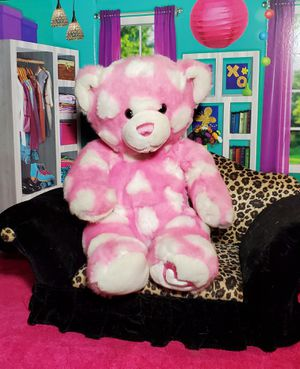 """16"""" Build A Bear Teddy 💖 Pink White Hearts BABW Stuffed Magnetic Plush for Sale in Dale, TX"""