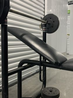 Standard Bench Press W/ Bar & 100 Lbs Of Weight. for Sale in Portland,  OR