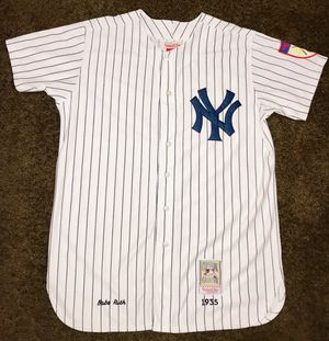 1935 Babe Ruth New York Yankees #3 Mitchell&Ness Throwback Jersey Size: 52(2XL) for Sale, used for sale  Freehold, NJ