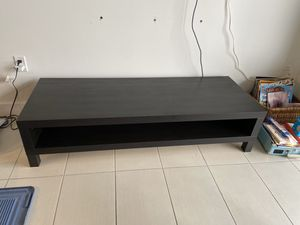 IKEA black/ dark brown entertainment center for Sale in Miami, FL