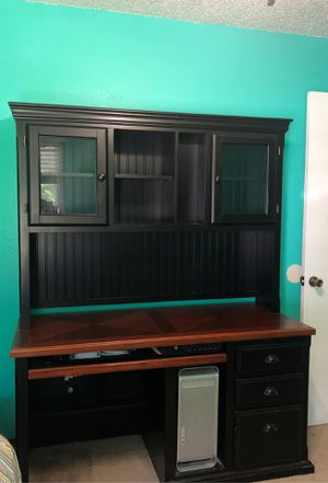 Solid wood desk with lots of storage for Sale in Round Rock, TX