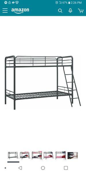 Black metal frame bunk beds for Sale in Salt Lake City, UT