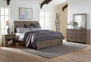 Light wood queen bed frame + orthopedic queen mattress + box spring for Sale in Columbus, OH