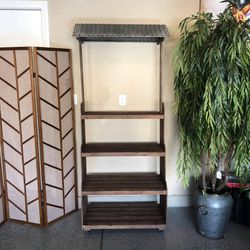 """Brand New Wood Shelf with Tin Roof (34""""x17""""79"""") 👉🏼 Please Read Description 👀 for Sale in North Las Vegas,  NV"""