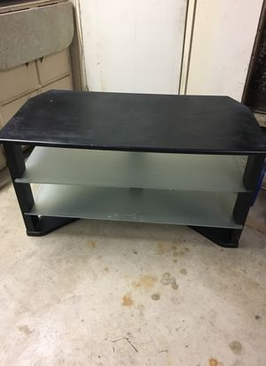 Tv stand-black -glass for Sale in Moreno Valley, CA