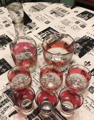 6 glasses + carafe + ice bucket set for Sale in Miami, FL