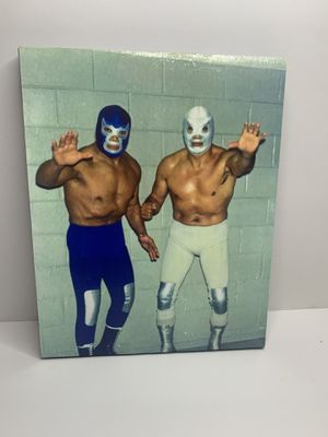 Blue Demon & El Santo Canvas for Sale in Fontana, CA