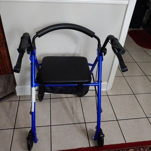 Like New Height Adjustable, Foldable, Wheeled Walker By Lifestyle In Colbalt Blue for Sale in West Columbia, SC