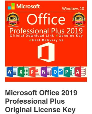 Microsoft Office 2019 Professional for laptop and desktop computers for Sale in Davie, FL