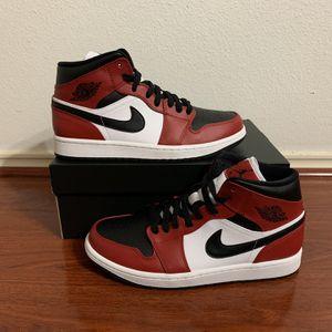 Air Jordan 1 Mid Chicago Black Toe Men's Size 8 for Sale in Houston, TX