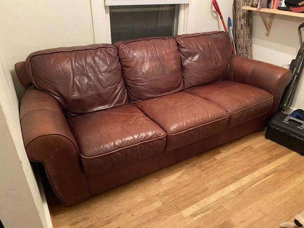 """Leather Sofa 90"""""""