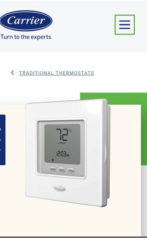 Thermostat programmable heat pump touch & go for Sale in UPPR MARLBORO, MD