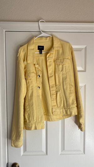 Yellow jean jacket (M) for Sale in Virginia Beach, VA