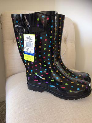 Polka Dot Rain Boots for Sale in Martinsburg, WV