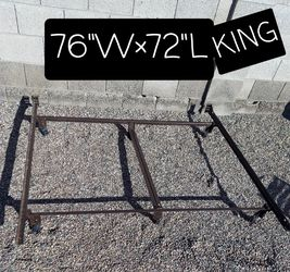 METAL KING BED FRAME ONLY for Sale in Phoenix,  AZ