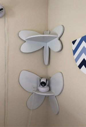 Set of 2 white decorative corner shelves (kids) for Sale in Miami, FL