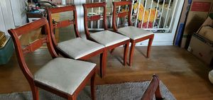 4 Antique Mahogany chairs for Sale in Downey, CA