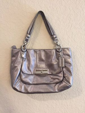 Coach B 1073 16814 Kristen Leather Shoulder Tote Satchel Silver Bag for Sale in Kyle, TX