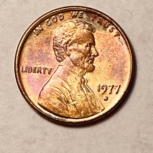 1977d Lincoln Cent Penny With Toned Uncertified . for Sale in Oakland, CA
