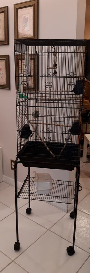 5 ft tall bird cage, including stand, see below for Sale in Plantation, FL