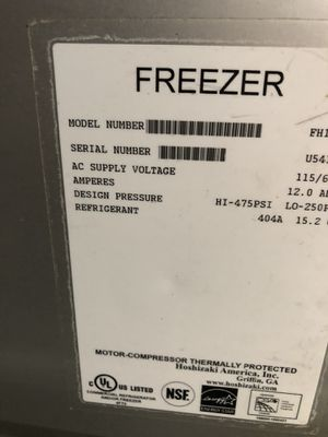 INDUSTRIALS FREEZER AND REFRIGERATOR, good condition for Sale in Federal Way, WA