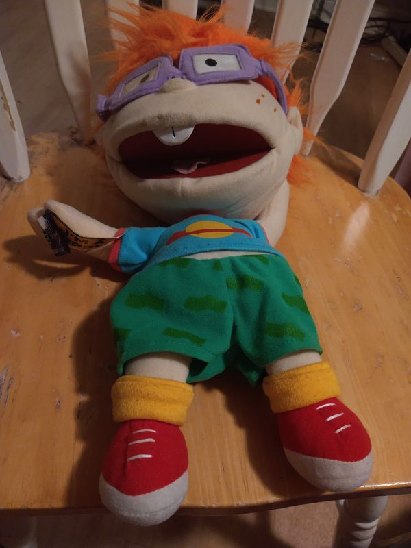 1990s Nickelodeon Chucky Rugrats Plush Applause Puppet with Tags