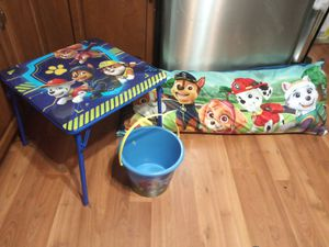 Paw patrol bucket table large pillow for Sale in Galloway, OH