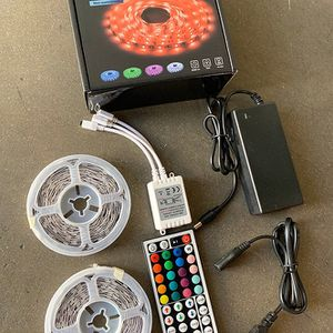 New in box $25 DAYBETTER Led Strip Lights 32.8ft Flexible Tape 5050 RGB 300 Color Changing Kit (44 Key Remote) for Sale in El Monte, CA