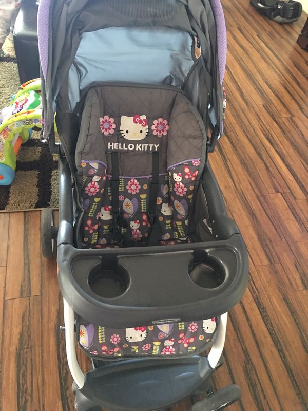 hello kitty car seat and stroller set