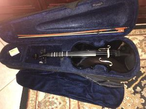 Adm Full Size 4/4 Black Violin with New Bow, Case & Rosin for Sale in Sunrise, FL