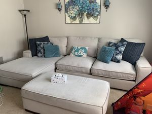 Ashley sectional with ottoman for Sale in Cary, NC