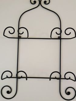 Wrought Iron Rack~ Plates, Towels, Photos for Sale in Everett,  WA