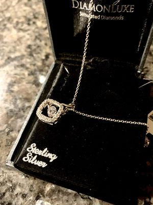 """Arabella Cubic Zirconia 18"""" Pendant Necklace in Sterling Silver, for Sale in Chicago, IL"""