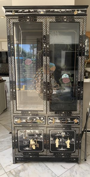 Handmade One of a kind China Cabinet Antique for Sale in Huntington Beach, CA