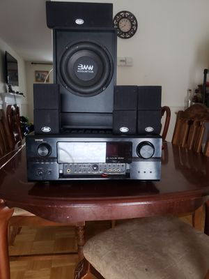 Receiver Denon 4 speaker's and subwoofer for Sale in Germantown, MD