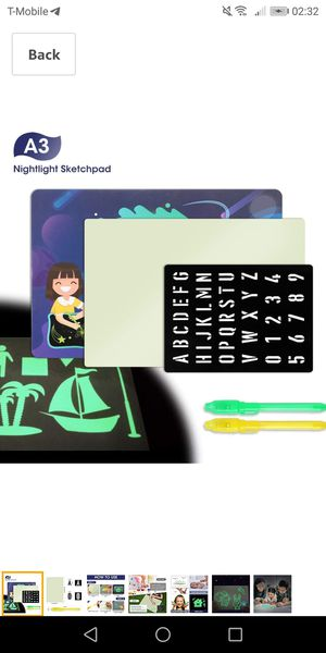 Glow in the dark drawing tablet for kids-new for Sale in Naperville, IL