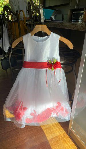 Floral Lace Rose Petal Flower Girl Dress Toddler Dress SIZE 8 for Sale in Bellevue, WA