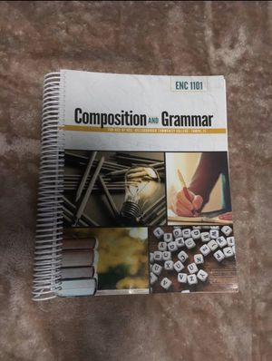 Composition and grammar book HCC for Sale in Gibsonton, FL