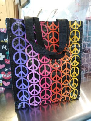 New heavy duty reusable peace sign bag/lunch bag/small tote for Sale in Phoenix, AZ