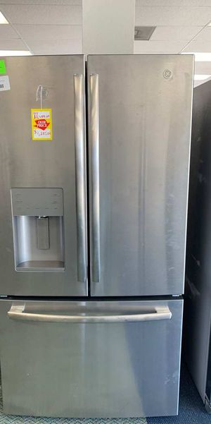 General Electric Refrigerator! GE brand!! All new French door stainless steel!! Comes with Warranty Y8A5 for Sale in Houston, TX