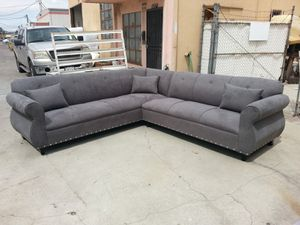 NEW 9X9FT CHARCOAL MICROFIBER SECTIONAL COUCHES for Sale in Moreno Valley, CA