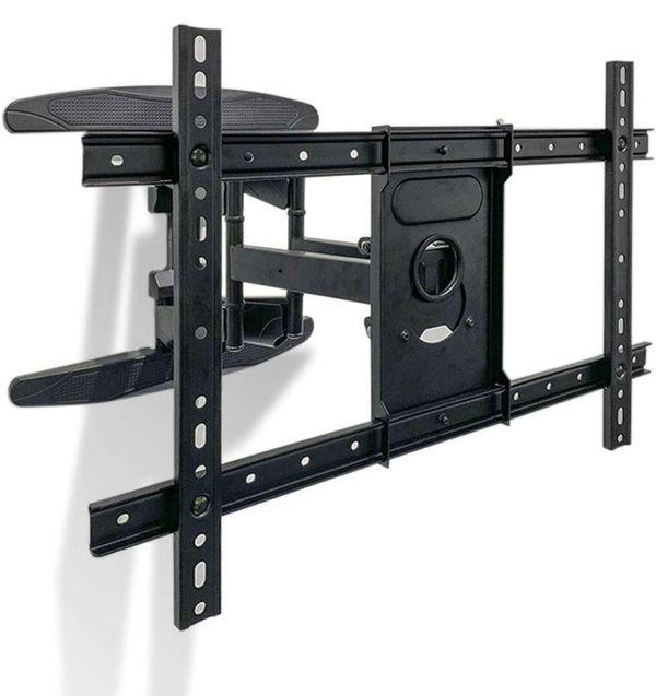 "Heavy duty tv FULL MOTION swivel mount bracket 32 to 55 60 65 70 75 80 "" + inches"