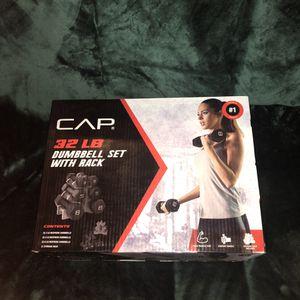 Cap dumbbell set 32 pounds for Sale in Miramar, FL